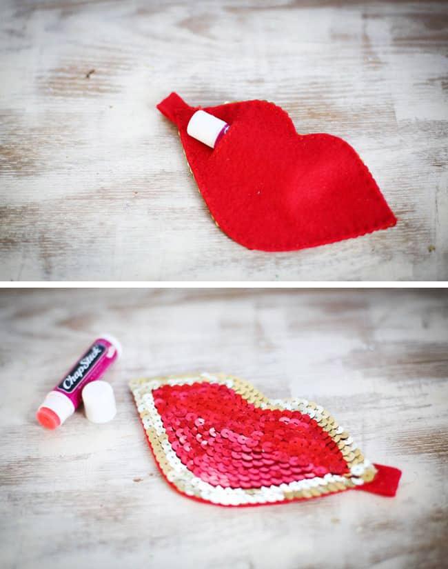 DIY lip gloss Pouch