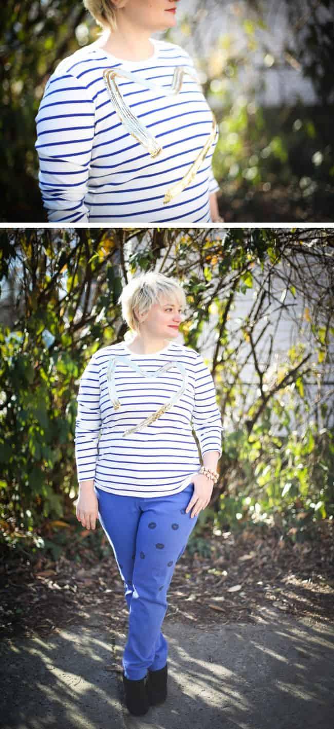 DIY Sequin Heart T-Shirt