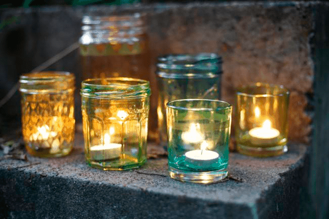 Tinted Glass Votives | Hello Glow