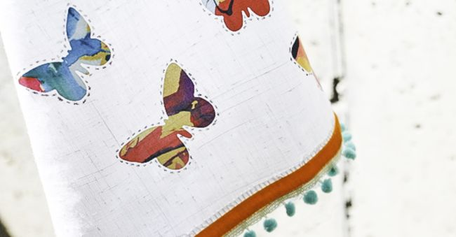 DIY Anthropologie Tea Towel | Hello Glow