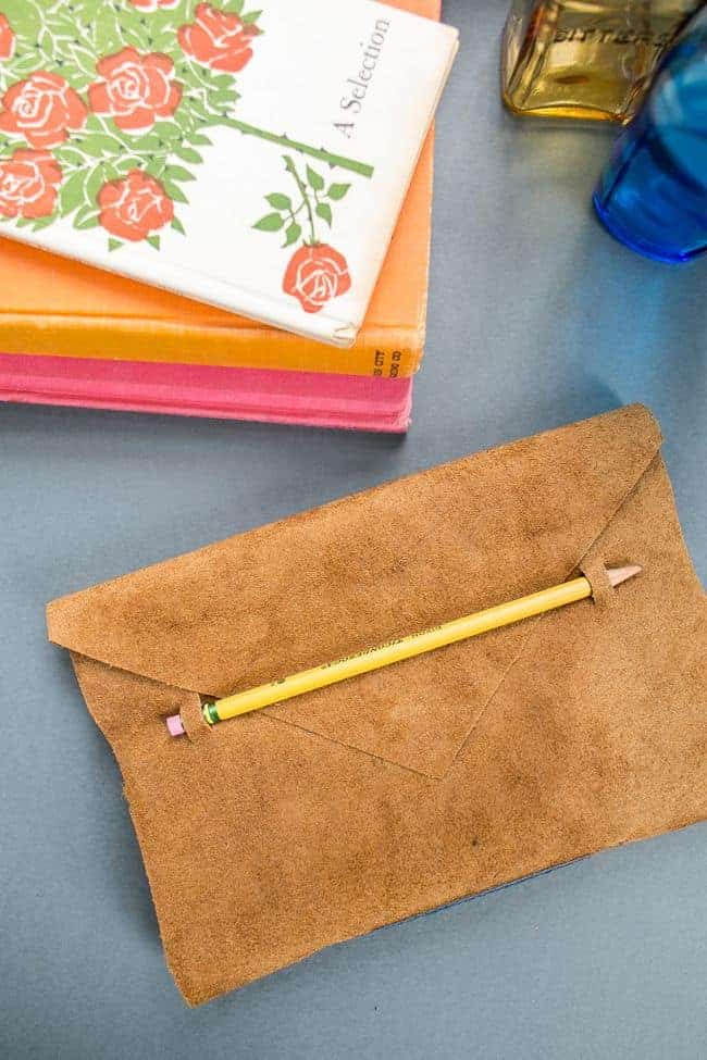 Anthropologie Leather DIY Journal | HelloGlow.co