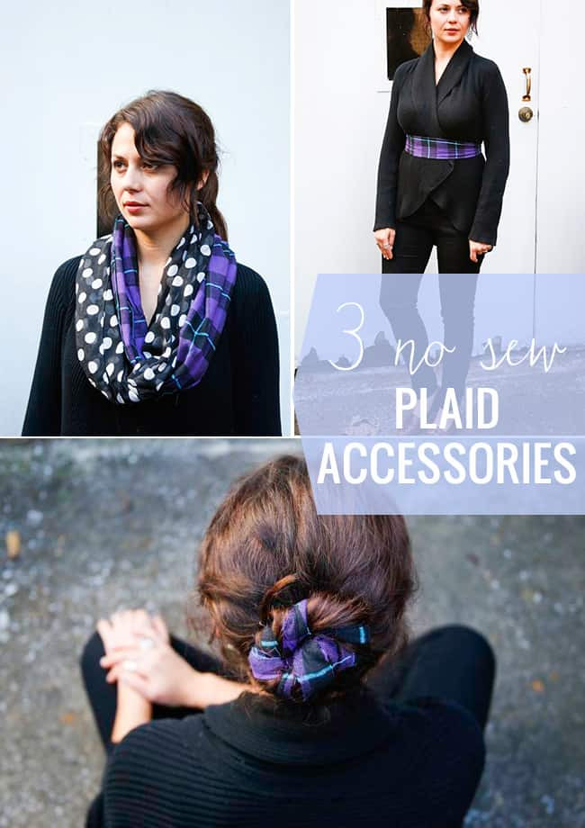 3 Plaid No Sew Accessories | Hello Glow