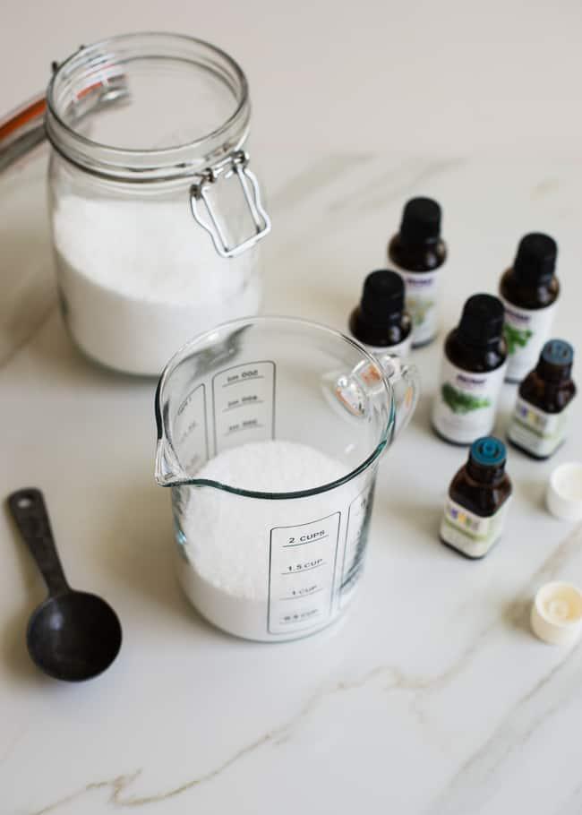 Salt + Essential Oil DIY Fabric Softener