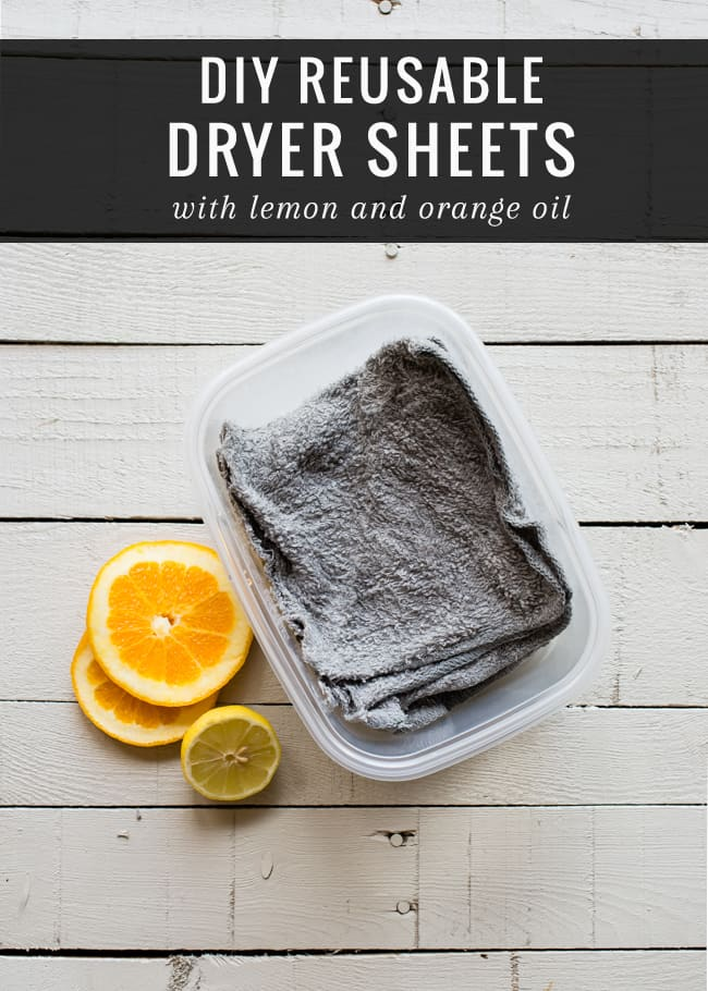 Make Your Own Reusable Dryer Sheets | HelloGlow.co