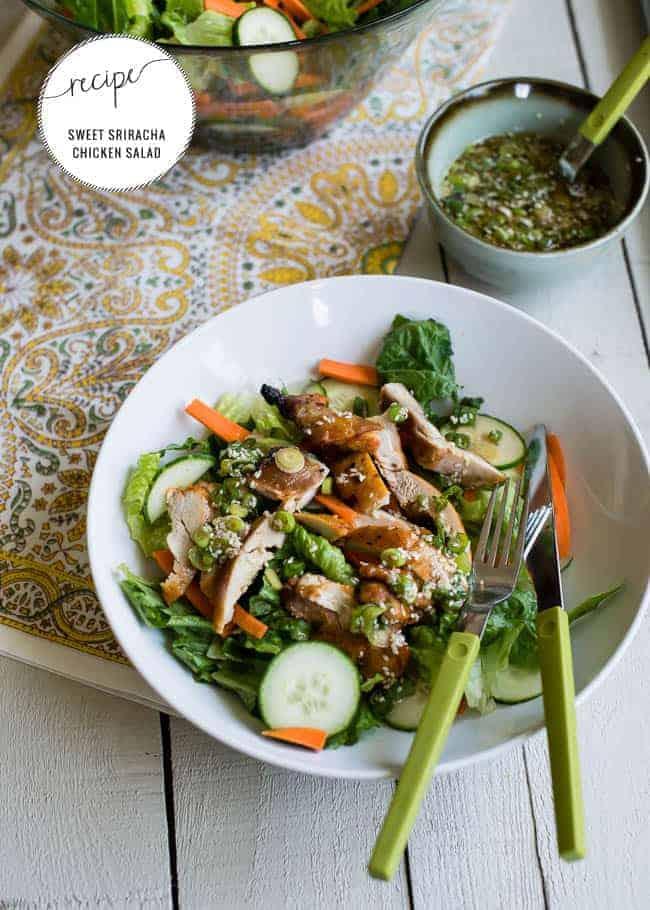 Sweet Sriracha Chicken Salad | Hello Glow