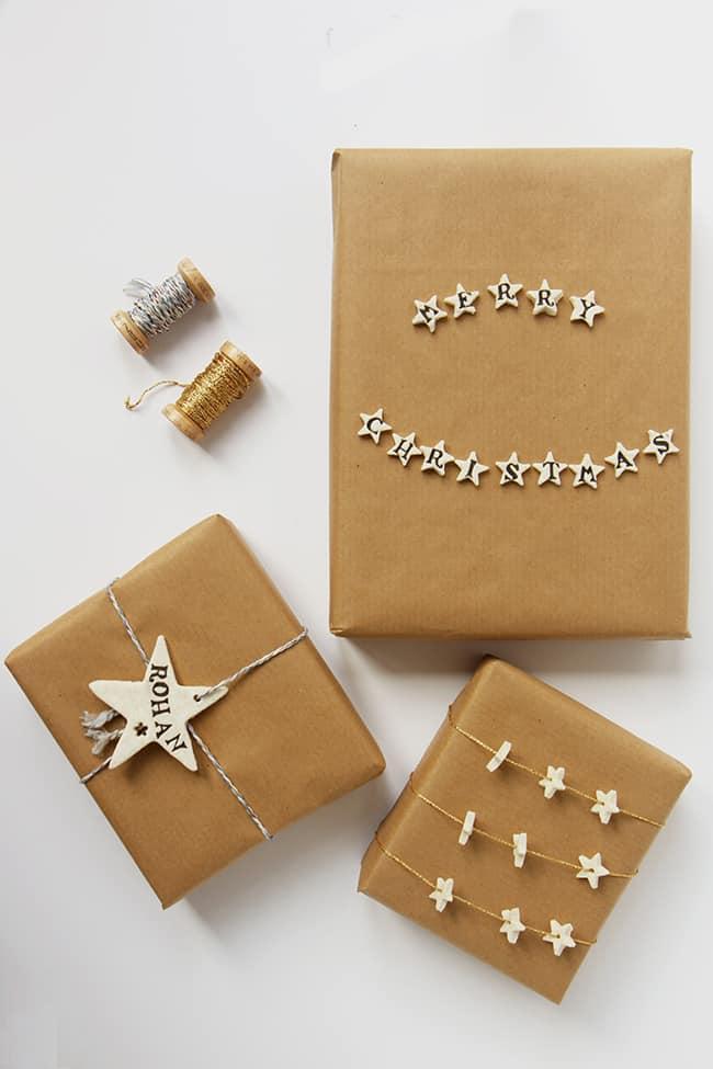 DIY: Cornstarch clay gift wrap | helloglow.co