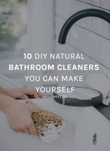 10 DIY Natural Bathroom Cleaners You Can Make Yourself - Hello Glow