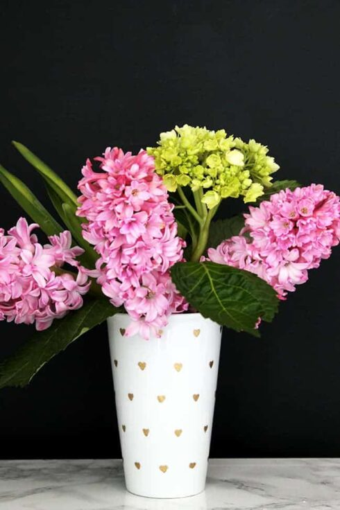 Mini Gold Heart DIY Vase | HelloNest.co