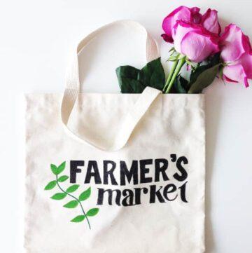 DIY Painted Market Tote Bag