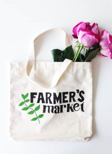 DIY Painted Market Tote Bag