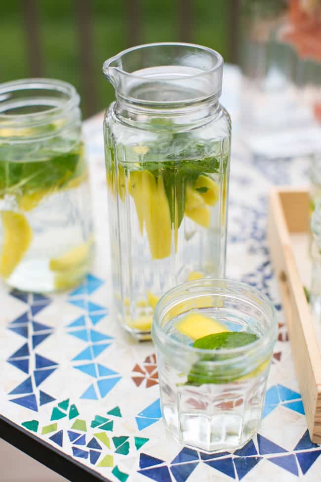Mint Mango Water | 3 Herb Infused Water Recipes