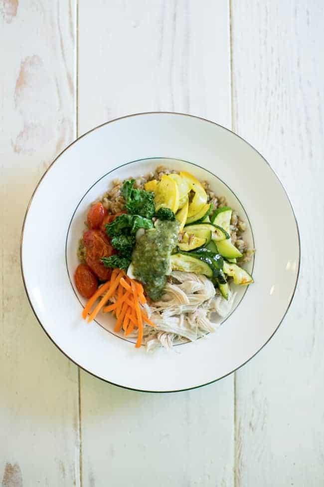 Pesto Chicken Make Ahead Meal Bowl