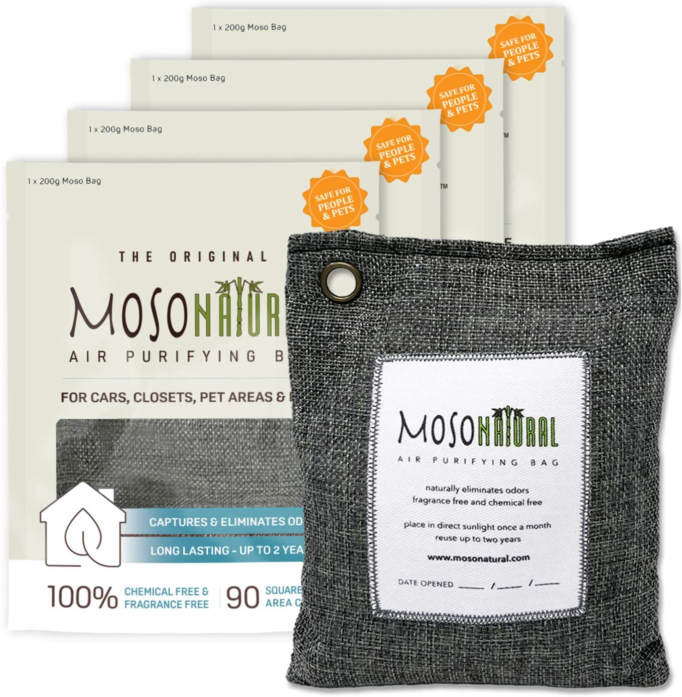 Moso Natural Air Purifying Bag from Amazon