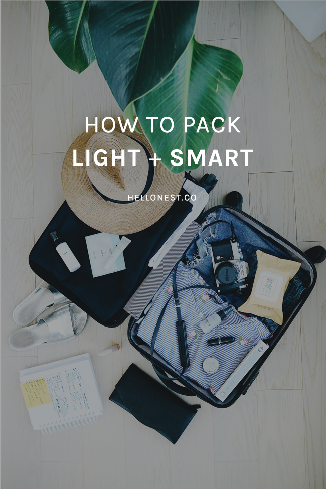 How to pack light + smart - HelloNest.co