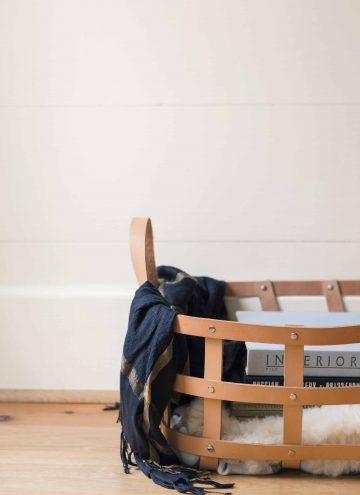 DIY Woven Leather Basket