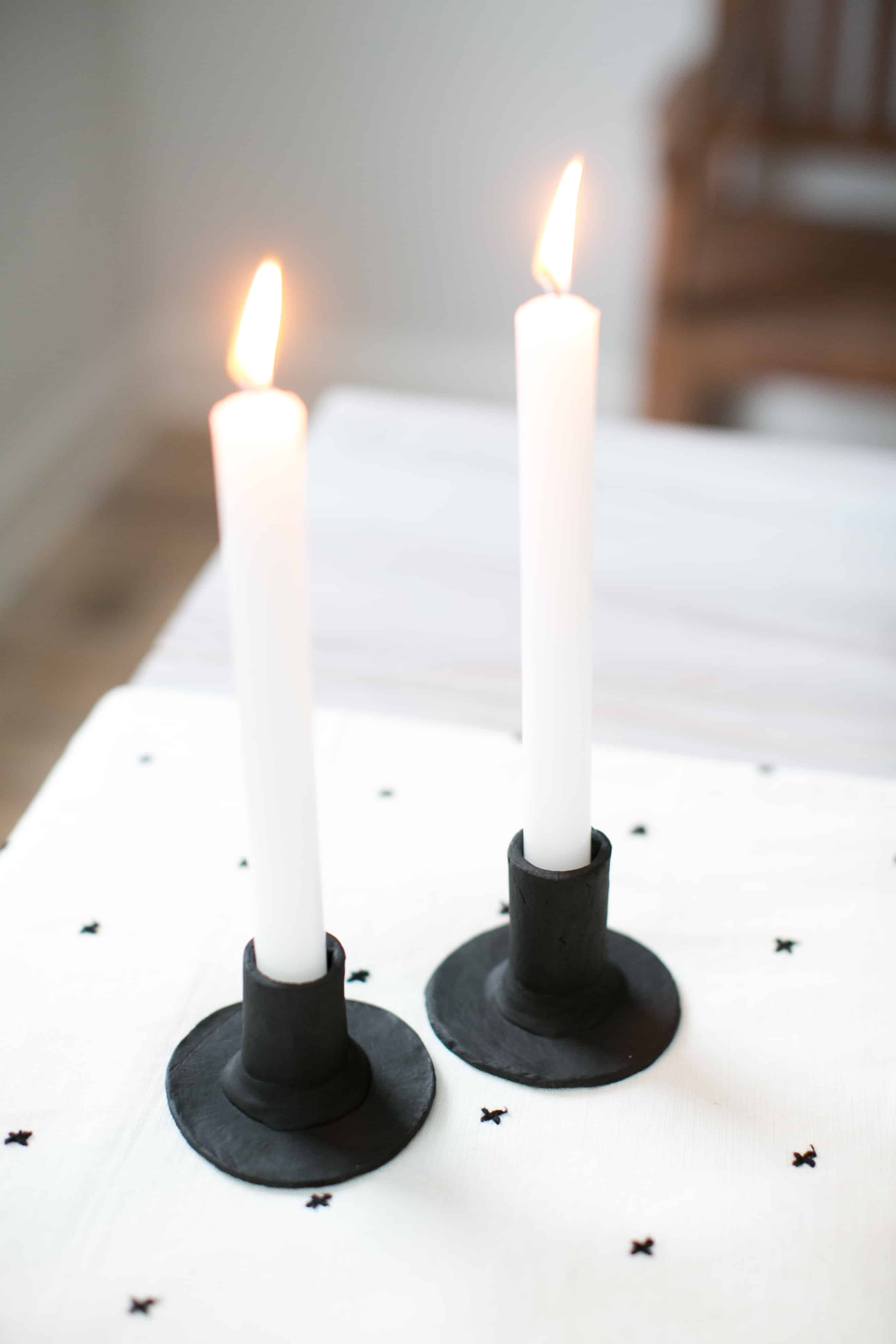 cba7c0e924 Make These Scandinavian-Style Clay Candlesticks for Under $20 - Hello Nest