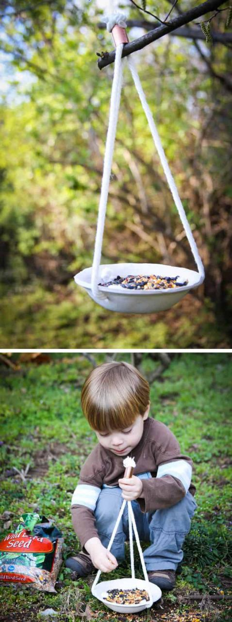 hanging birdfeeder tutorial with clay