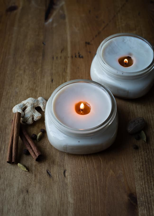Chai candles from Hello Glow | 10 DIY Fall Candles