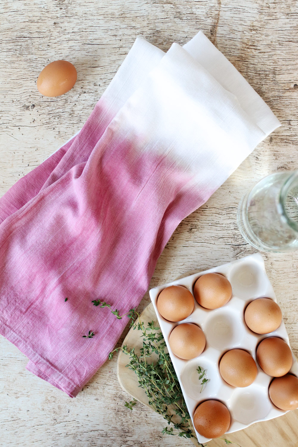 Beet Dyed Dish Cloths | Homemade Gift Ideas
