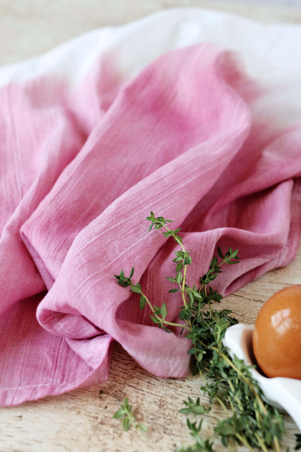 Dish Clothes with Beet Dye
