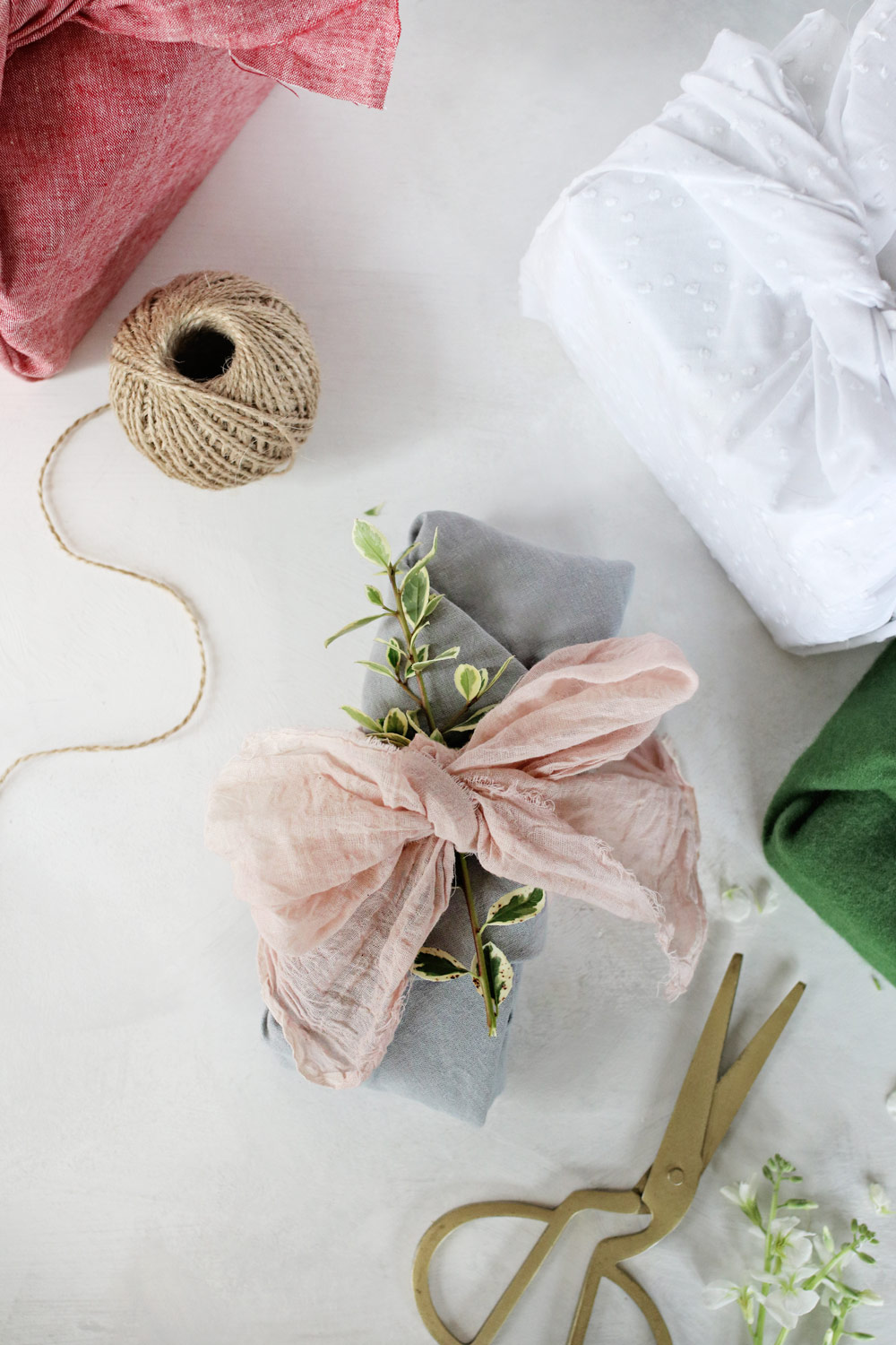 Diy Fabric Gift Wrap Hello Nest Holiday Projects