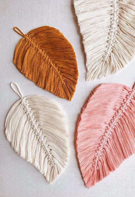 DIY Macramé Feathers from Honestly WTF | 8 Modern DIY Macrame Projects