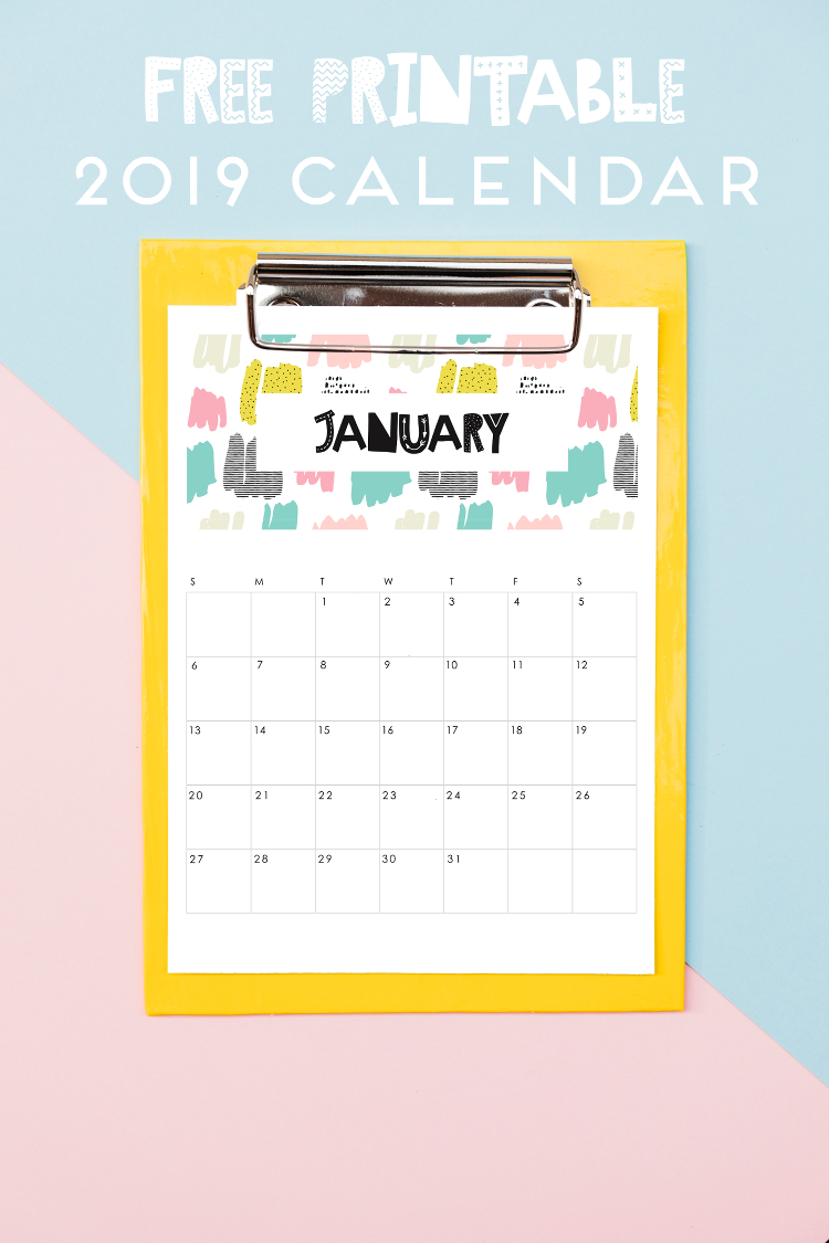 Free Printable 2019 Calendar from Gathering Beauty | 15 Free Organization Printables