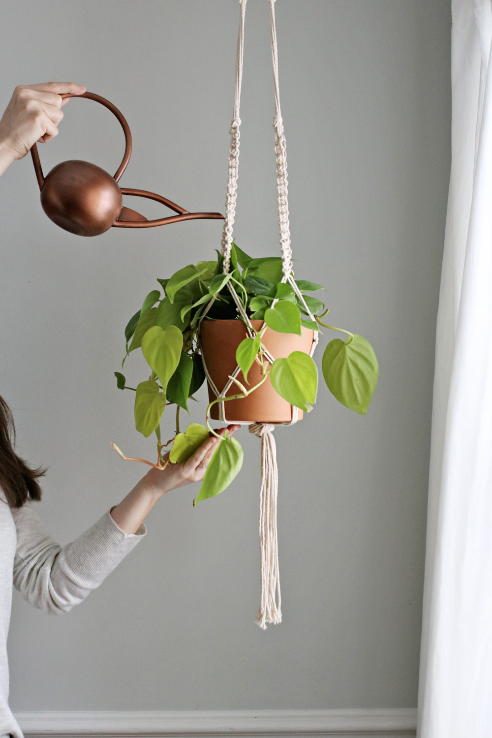 DIY Macrame Plant Hanger from Hello Nest | 7 Hanging Planter DIYs