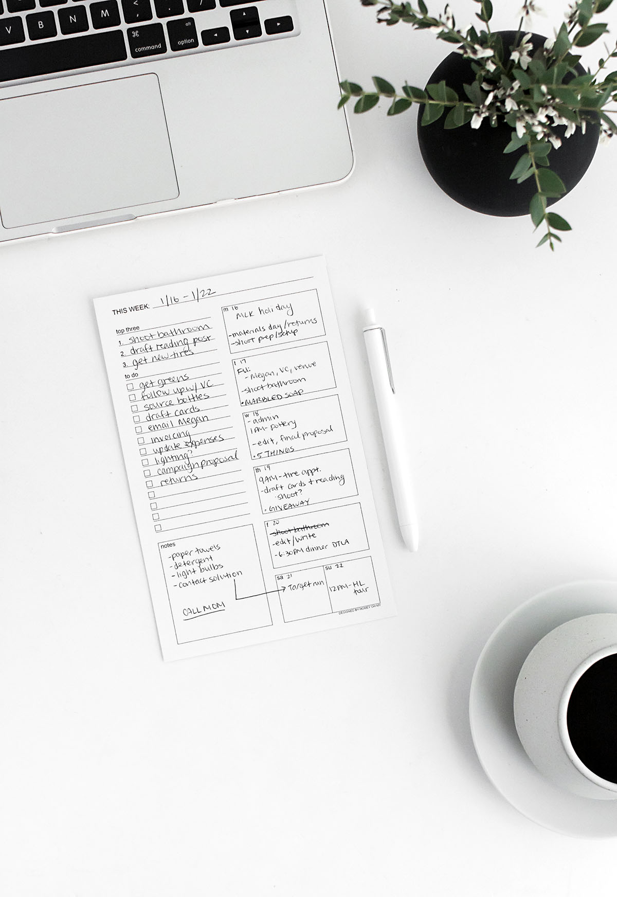 Weekly To-Do Sheet from Homey Oh My | 15 Free Organization Printables