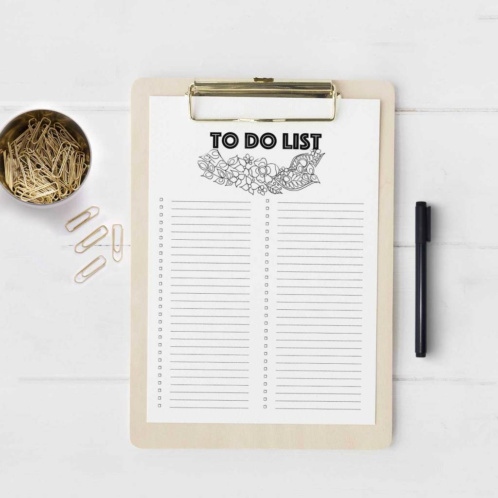 To Do List from Smiling Colors | 15 Free Organization Printables