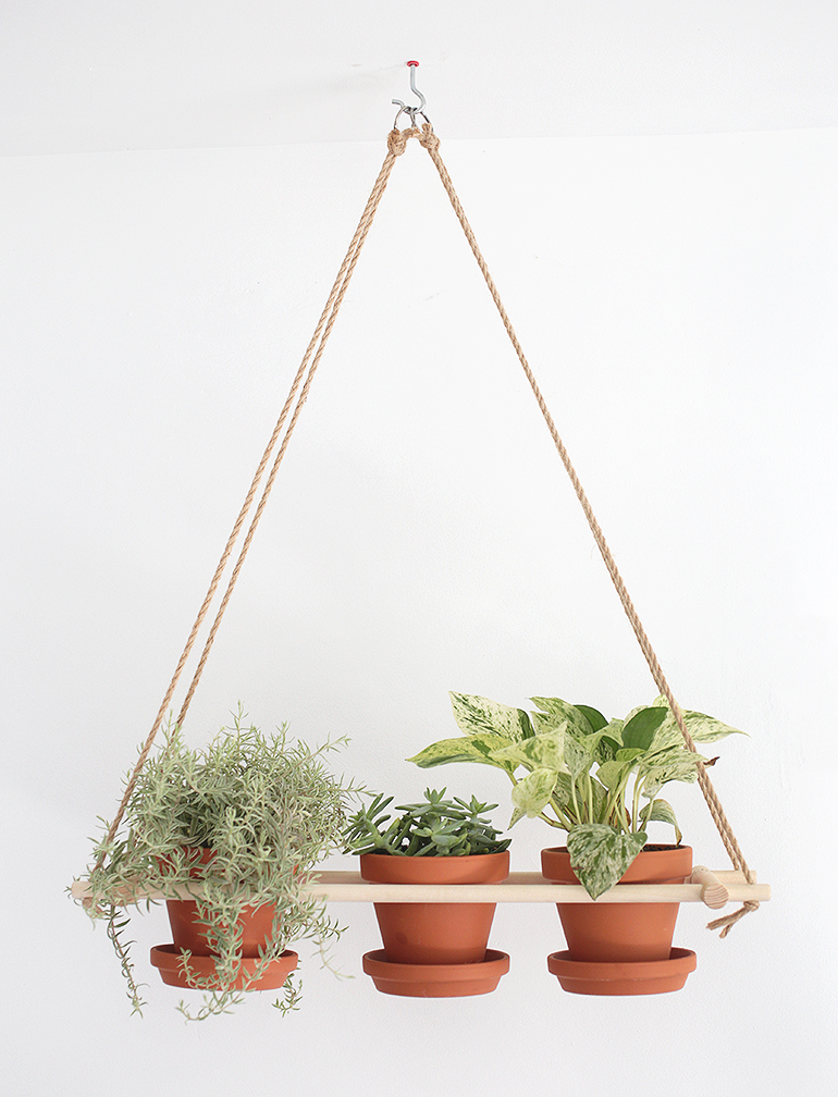 DIY Hanging Planter from The Merrythought | 7 Hanging Planter DIYs