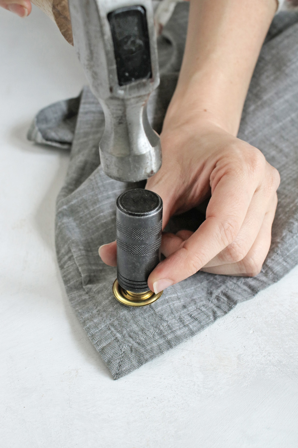No Sew DIY Apron with grommets