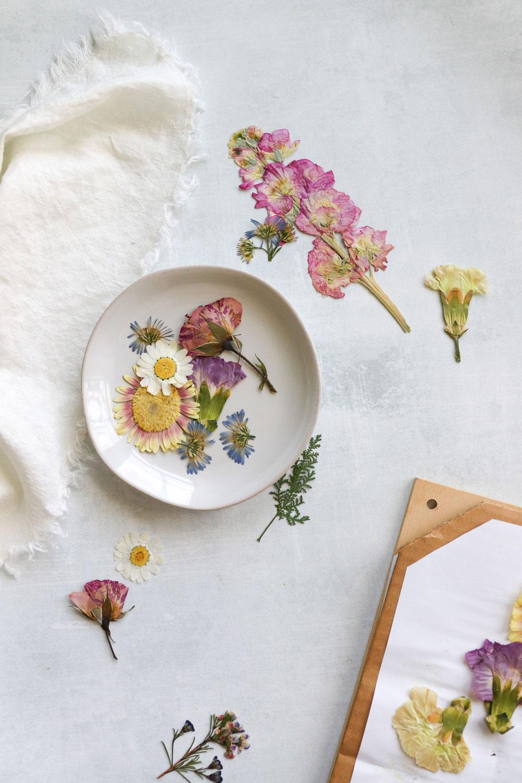 How To Press Flowers Make A Diy Flower Press Hello Nest
