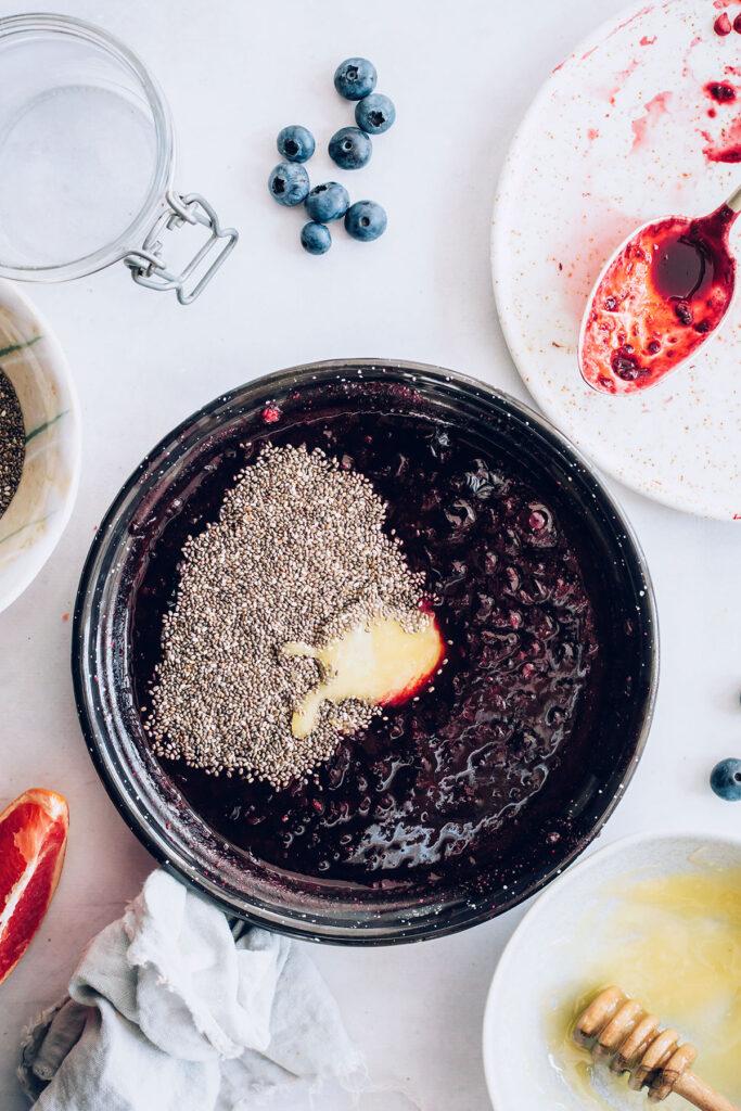 how to make chia berry jam