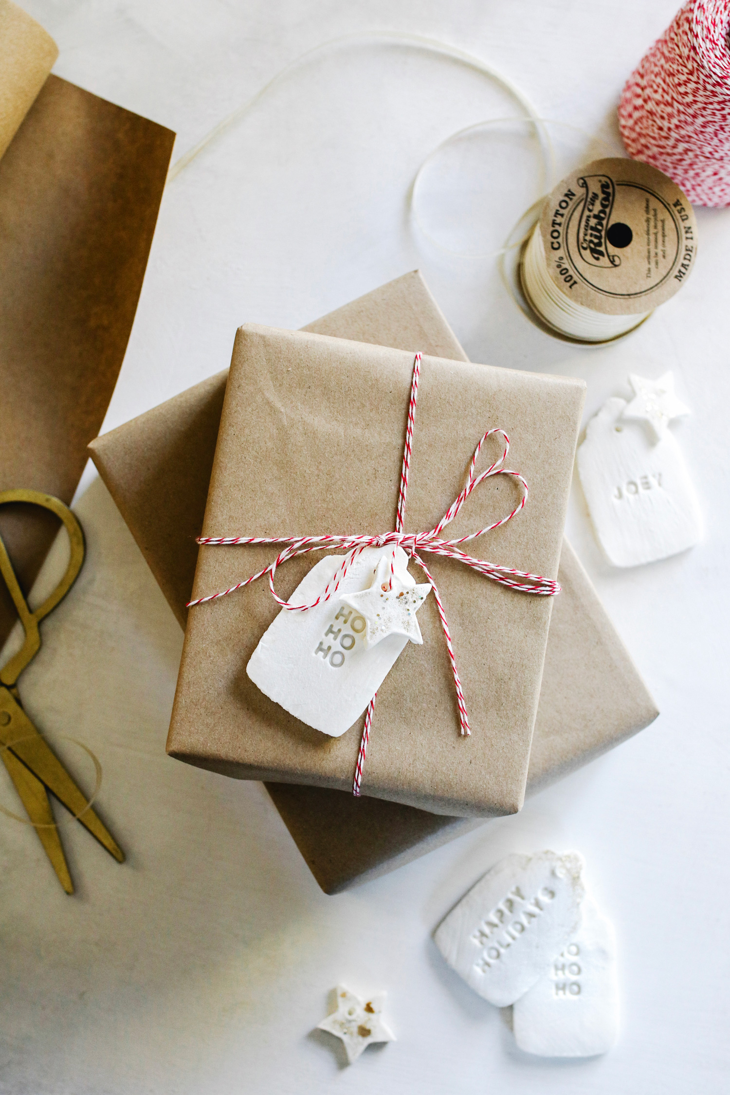How To Make Diy Gift Tags With Cornstarch Clay Hello Nest