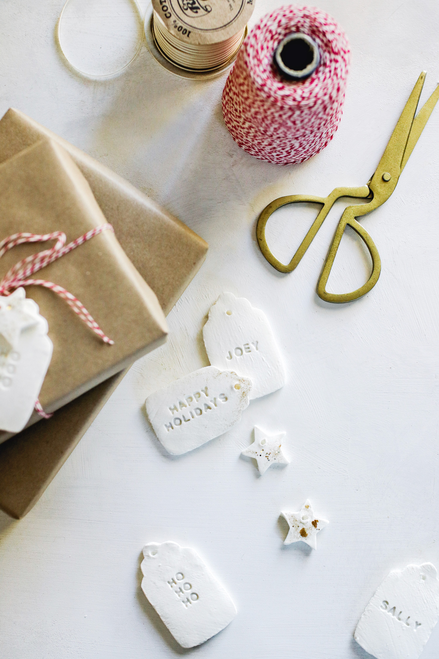 ake your own reusable DIY gift tags with 3-ingredient cornstarch clay and a cookie cutter, and never worry about running out of gift tags again.