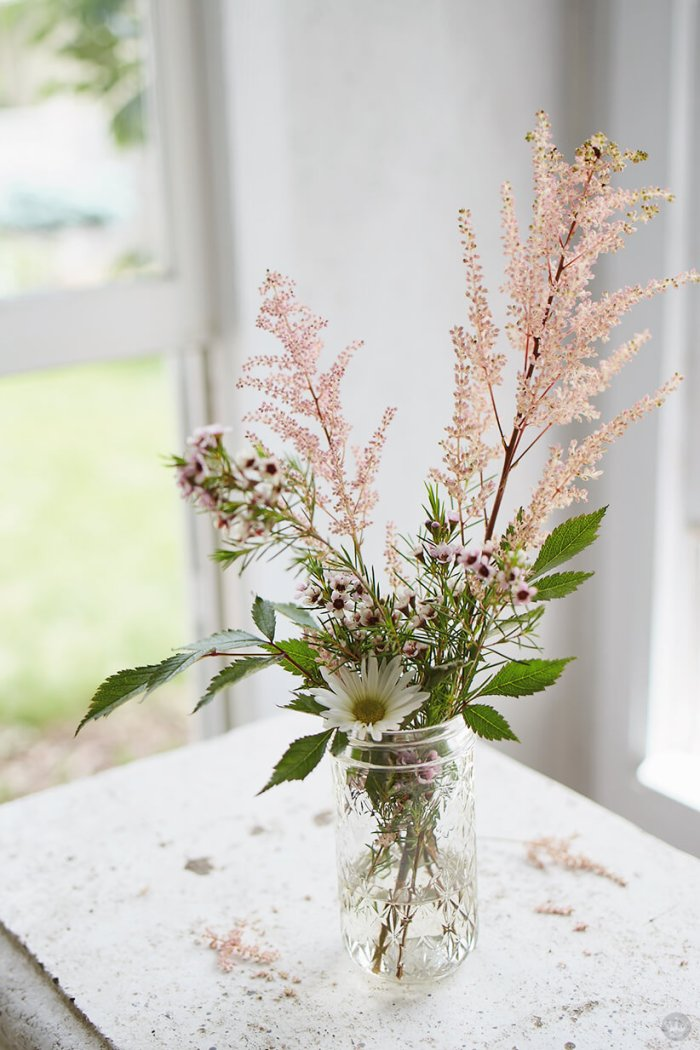 Simple, modern flower arrangements from Think Make Share