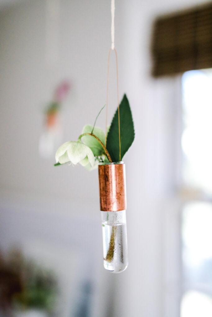 DIY Hanging Bud Vase