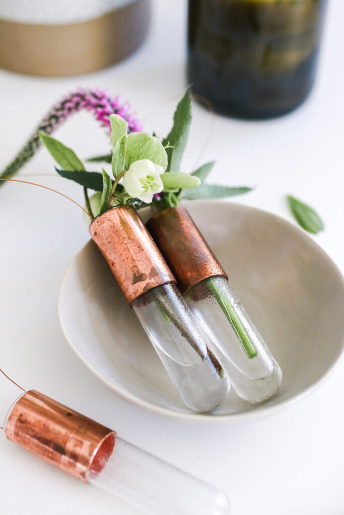 Test Tube and Copper Vases