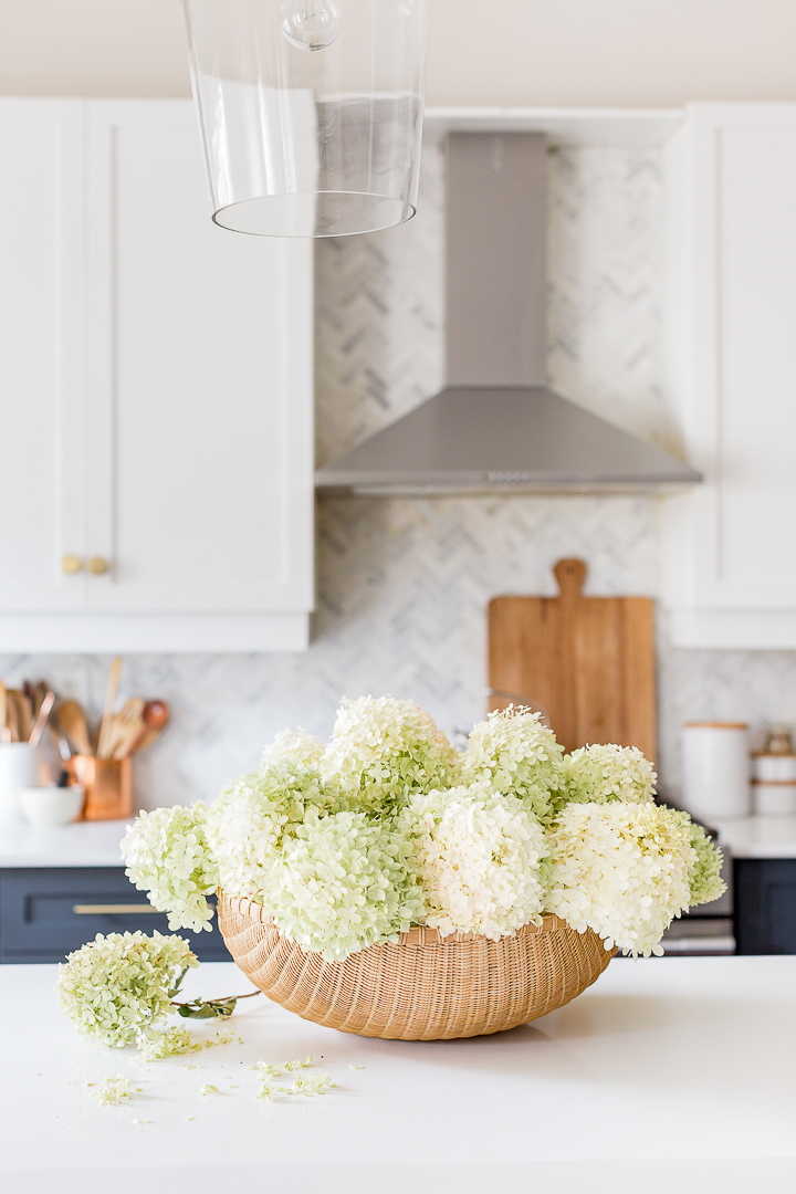 Limelight Hydrangea Basket Arrangement from Craftberry Bush