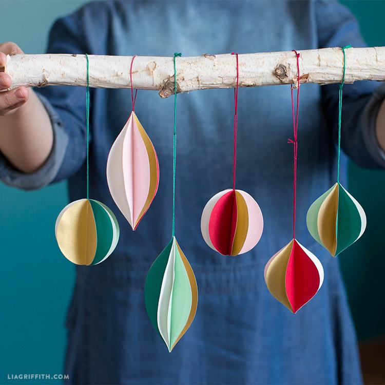 Retro Paper Ornaments from Lia Griffith