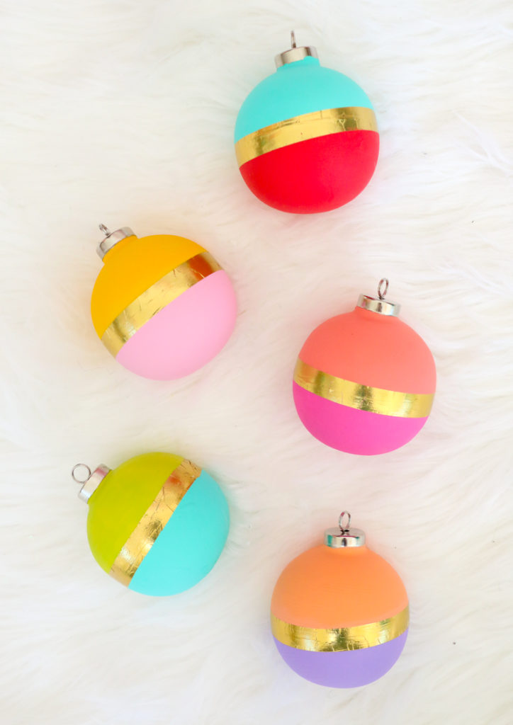 Color Blocked Ornaments from A Kailo Chic Life