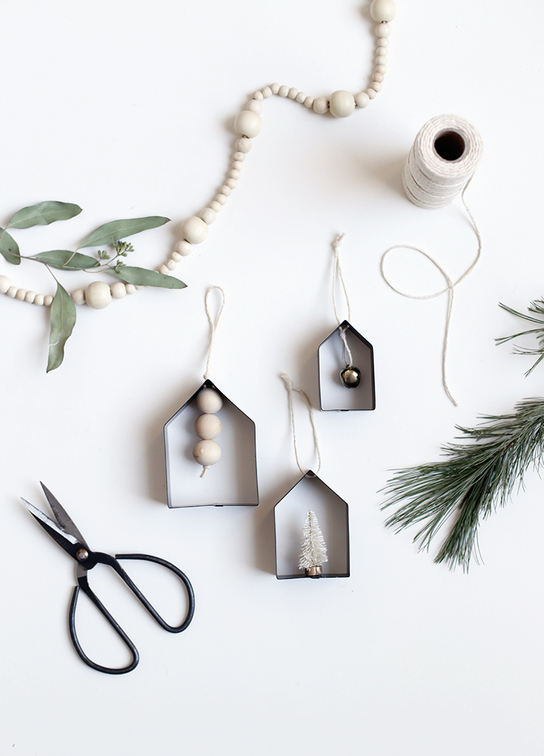 DIY House Cookie Cutter Ornaments from The Merrythought