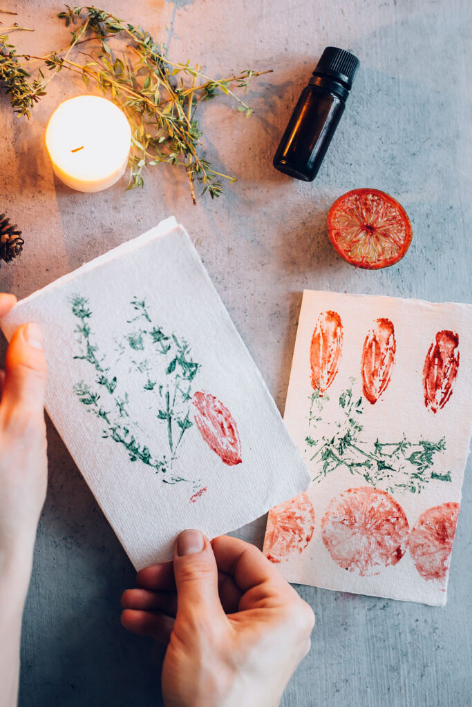Essential Oil Scented Holiday Cards