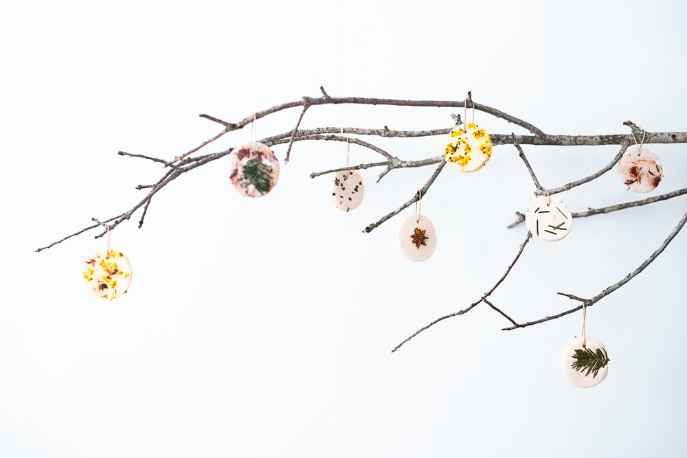 Natural, Botanical Salt Dough Ornaments from Compost and Cava