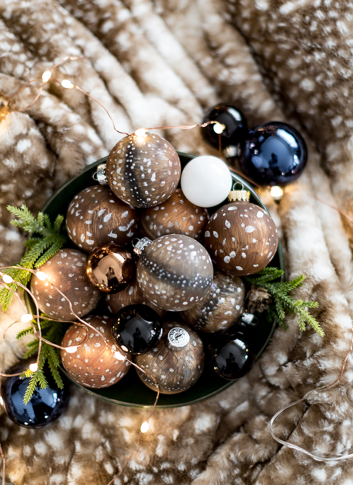 Painted Deer Fur Christmas Ornaments from Craftberry Bush