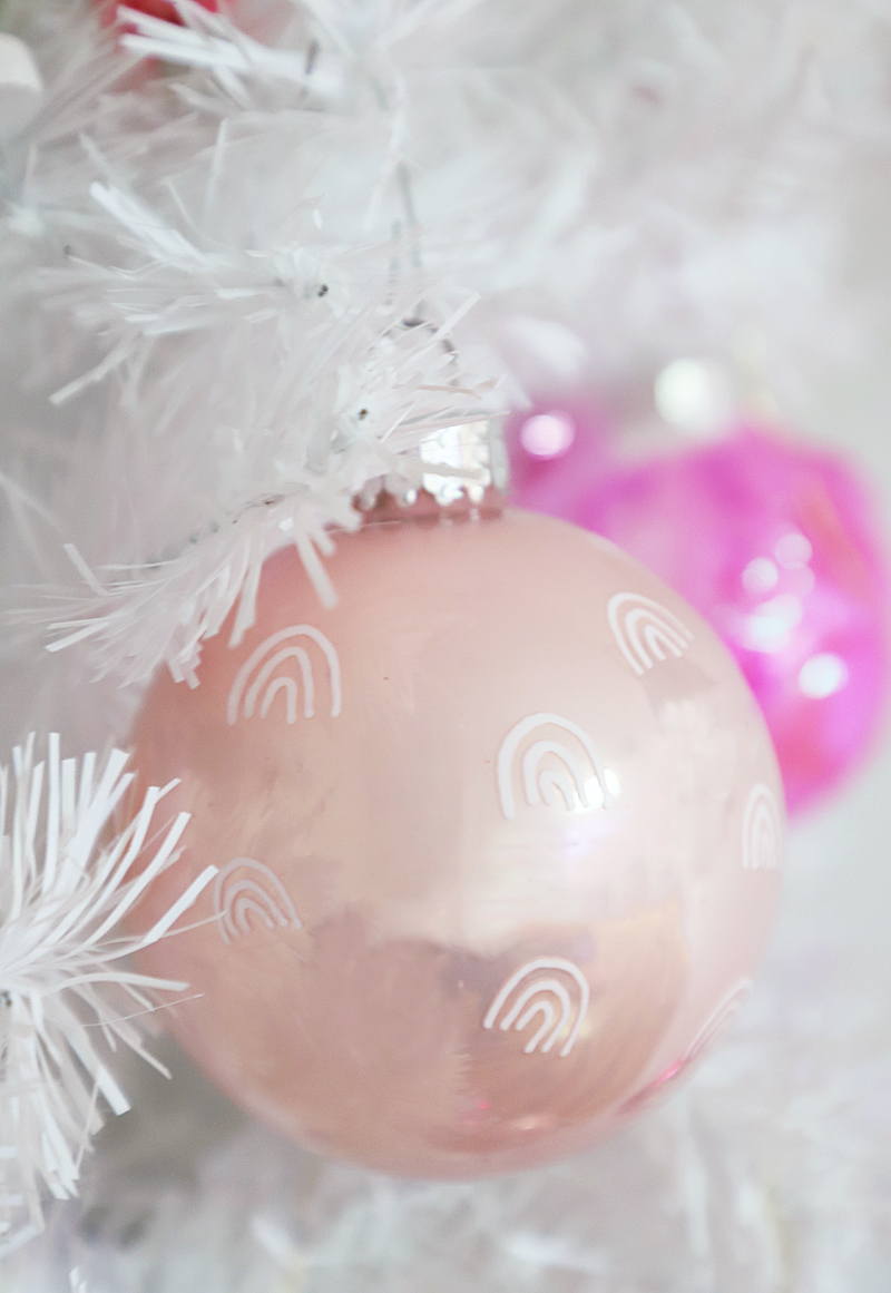 Simple Pink Ornaments from A Bubbly Life