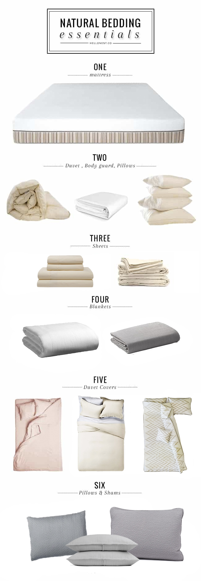 Natural Bedding Essentials - HelloNest.co