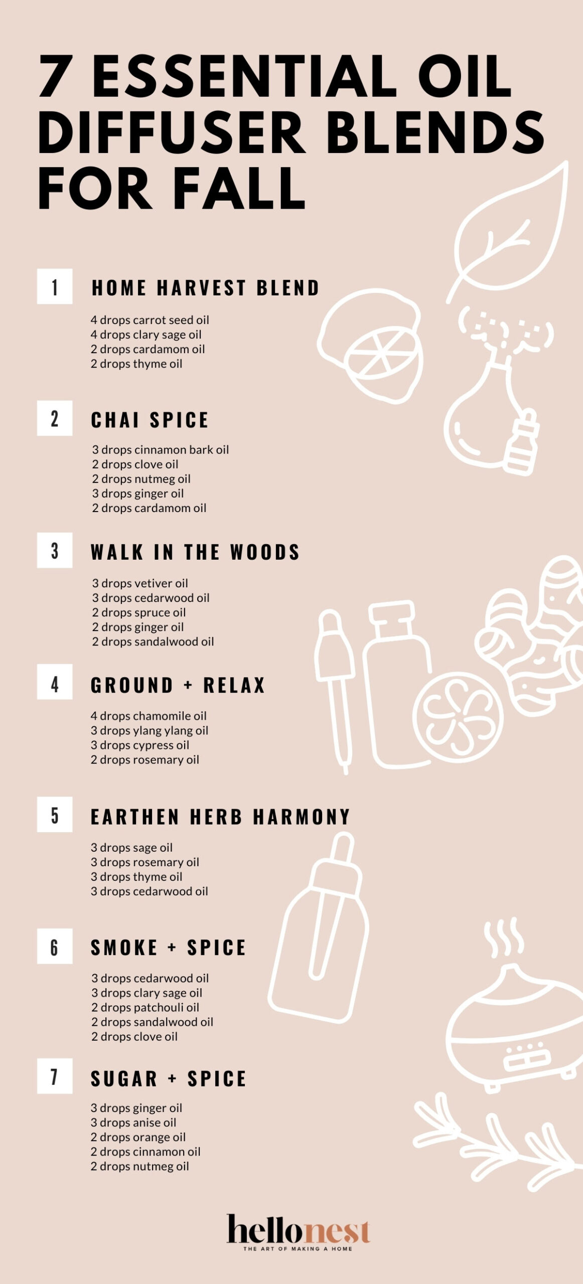 7 Essentil Oil Diffuser Blends for Fall - HelloNest.co