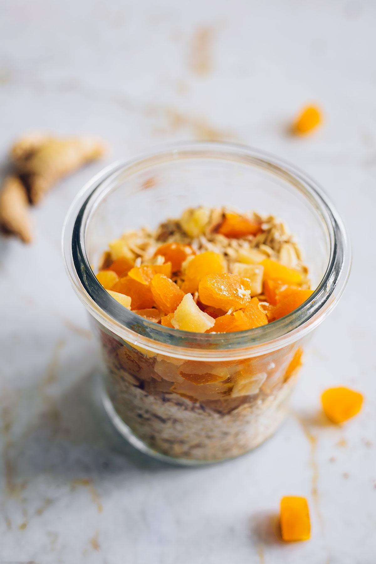 Ginger Mango DIY Instant Oatmeal